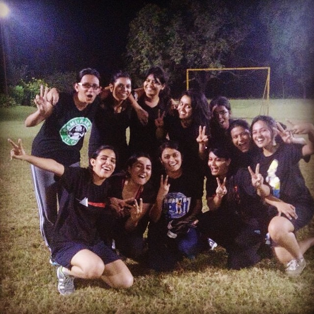 Our girl's Football team at MICA :)