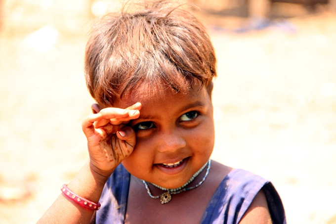 A young girl (her name was Bhuri) who seemed to love the camera