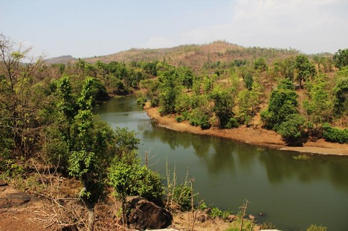 Village river shot