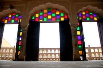 Loved these multicoloured doors