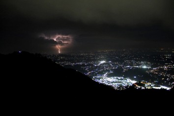 Some shots of the lightning that took place at night